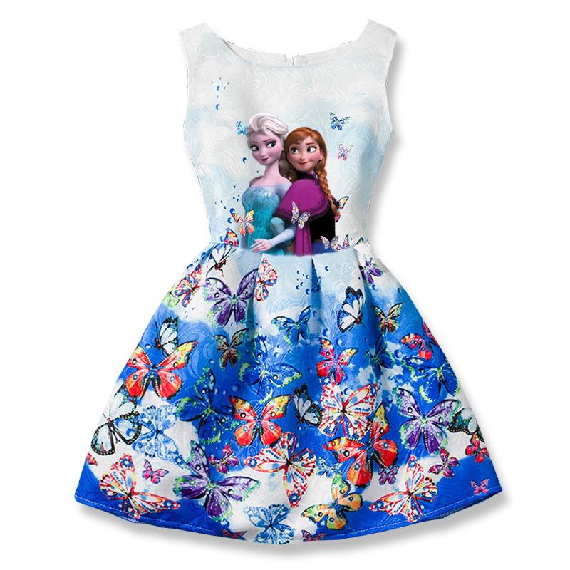 sukienka z anną i elzą kraina lodu